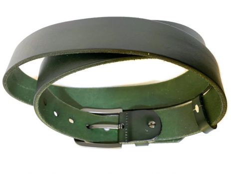 Ремень кожаный Lacoste green 1340