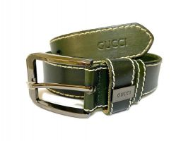 Ремень кожаный Gucci green 1341_0