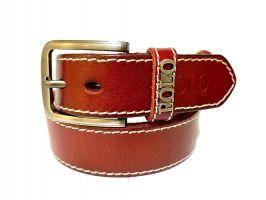 Кожаный ремень POLO red 1344_0