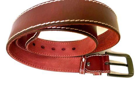 Кожаный ремень POLO red 1344