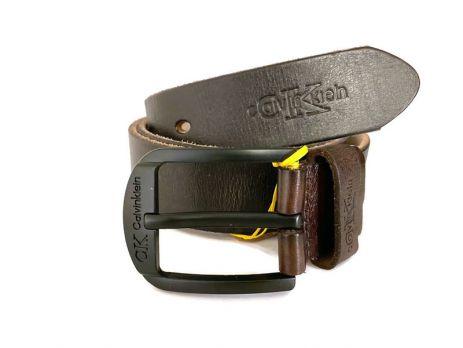 Ремень кожаный Calvin K jeans brown 1348