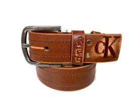 Ремень кожаный Calvin K jeans brown 1352_4