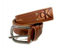 Ремень кожаный Calvin K jeans brown 1352_2