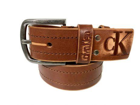Ремень кожаный Calvin K jeans brown 1352