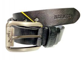 Ремень кожаный Hermes 1353 black
