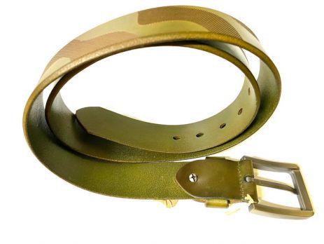 Ремень кожаный NHZ-252 green