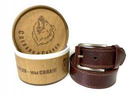 Ремень кожаный мужской в подарочной упаковке 1359_2