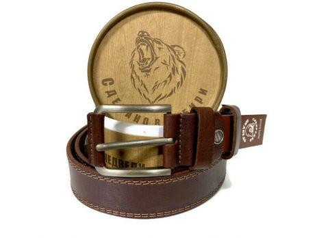 Ремень кожаный мужской в подарочной упаковке 1359