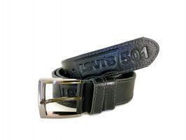 Кожаный ремень Levi's 501 black_1