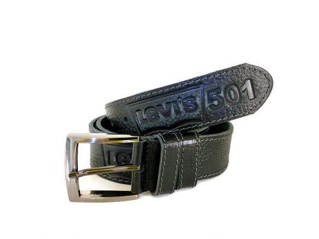 Кожаный ремень Levi's 501 black