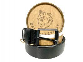 Ремень кожаный чёрный в подарочной упаковке 1370_1