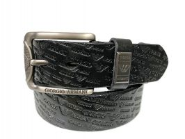 Кожаный ремень Armani black 1375