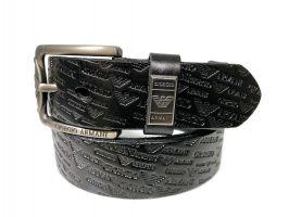 Кожаный ремень Armani black 1375_1