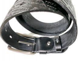 Кожаный ремень Armani black 1375_2