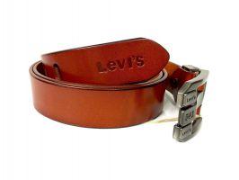 Кожаный ремень Levis 1376 brown_1