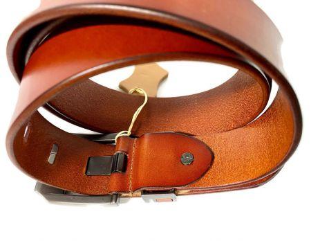 Кожаный ремень Levis 1376 brown