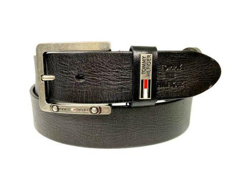 Ремень кожаный Tommy Hilfiger 1378 black