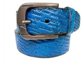 Кожаный ремень Armani 1386 blue_1