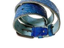 Кожаный ремень Armani 1386 blue_2