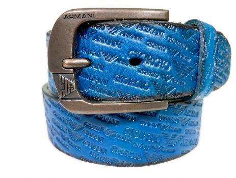 Кожаный ремень Armani 1386 blue