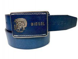 Ремень кожаный Diesel blue 1390_1