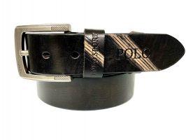 Кожаный ремень POLO black 1395