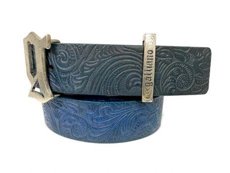Ремень кожаный John Galliano (Гальяно) blue