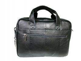 Портфель мужской кожаный 11017 black ZZNick_3