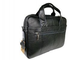 Портфель мужской кожаный 11017 black ZZNick_4