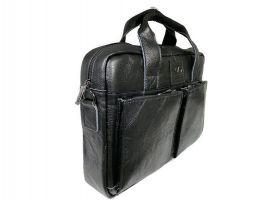 Портфель мужской кожаный 11017 black ZZNick_1