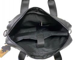 Портфель мужской кожаный 11017 black ZZNick_5