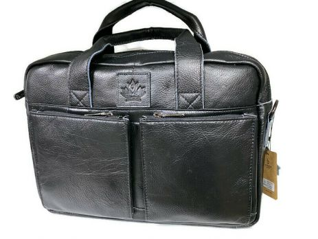 Портфель мужской кожаный 11017 black ZZNick
