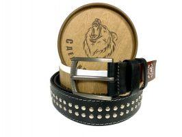 """Ремень кожаный """"Медведь"""" в подарочной упаковке 1401_1"""