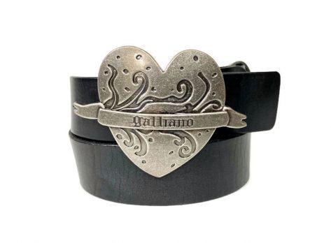 Ремень брендовый John Galliano (Гальяно) heart