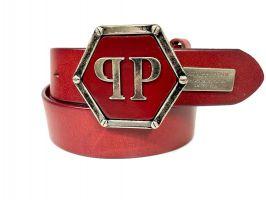 Ремень брендовый Philipp Plein 1405 red