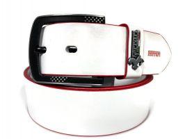 Ремень брендовый Ferrari 1417 white_1