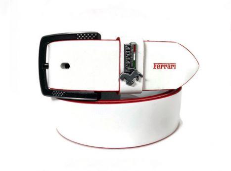 Ремень брендовый Ferrari 1417 white