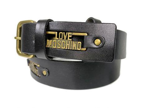 Ремень брендовый Moschino Love 1423 black