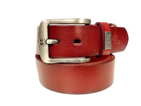 Ремень кожаный брендовый Boss 1428
