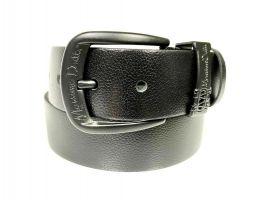 Ремень кожаный брендовый Massimo Dutti 1429 black_1
