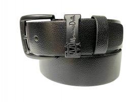 Ремень кожаный брендовый Massimo Dutti 1429 black_2