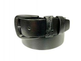 Ремень кожаный брендовый Massimo Dutti 1429 black_0