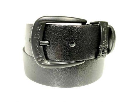 Ремень кожаный брендовый Massimo Dutti 1429 black