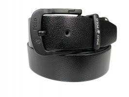 Ремень кожаный брендовый POLO 1432 black_1