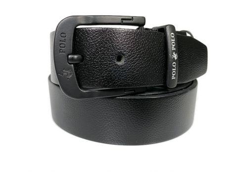 Ремень кожаный брендовый POLO 1432 black
