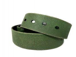 Ремень кожаный брендовый Levis 1434 green_4