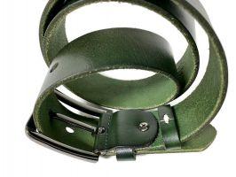 Ремень кожаный брендовый Levis 1434 green_3