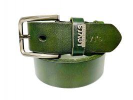 Ремень кожаный брендовый Levis 1434 green_0