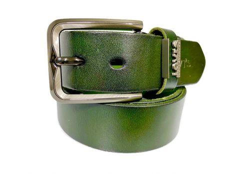 Ремень кожаный брендовый Levis 1434 green