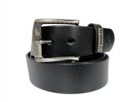 Ремень кожаный брендовый POLO 1437 black_1